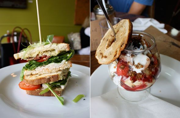 Lady Marmalade for brunch in Leslieville .... lunch is yummy too.