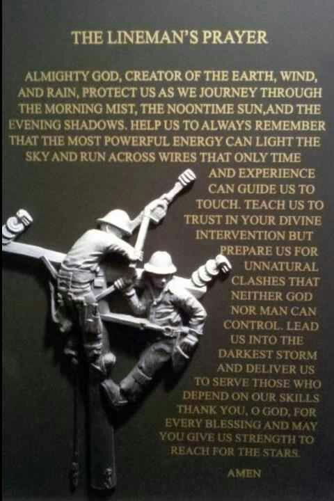 The Lineman's Prayer.