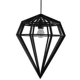 Exceptional Via Walnutstreet | Black Tvafota Geometric Diamond Lamp
