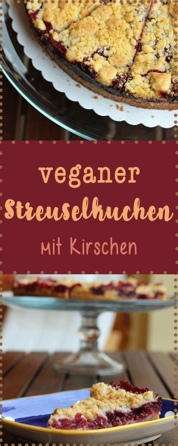 Vegan Backen: Kirschstreusel