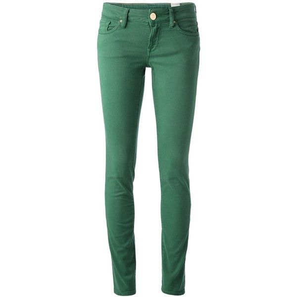 M Missoni Cropped Skinny Jeans ($97) ❤ liked on Polyvore featuring jeans, pants, bottoms, green, m missoni, cut skinny jeans, skinny jeans, skinny leg jeans and green jeans