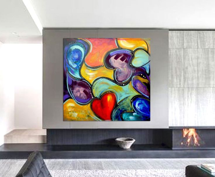 Buy Love is in the air, Acrylic painting by Areti Ampi on Artfinder. Discover thousands of other original paintings, prints, sculptures and photography from independent artists.