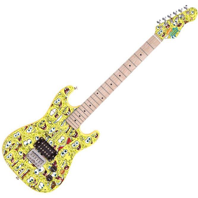 square pants sponge guitar more guitar stuff guitar music playing guitar. Black Bedroom Furniture Sets. Home Design Ideas