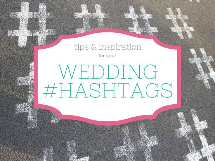 Wedding hashtags: they're not just for hipsters. Having your own hashtag is one of the easiest ways to not only collect extra photos from your guests, but also to share your event with people…