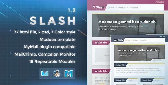 180 Absolute Best Responsive Email Templates - Slash - Responsive E-mail Template