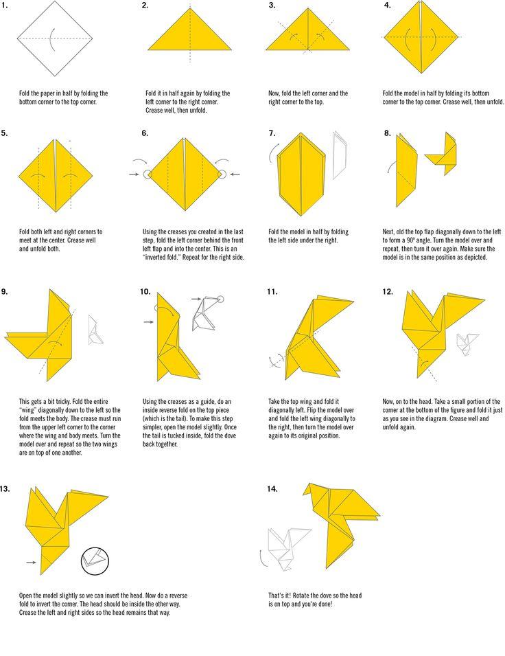 19 best Origami doves / birds images on Pinterest ... - photo#13