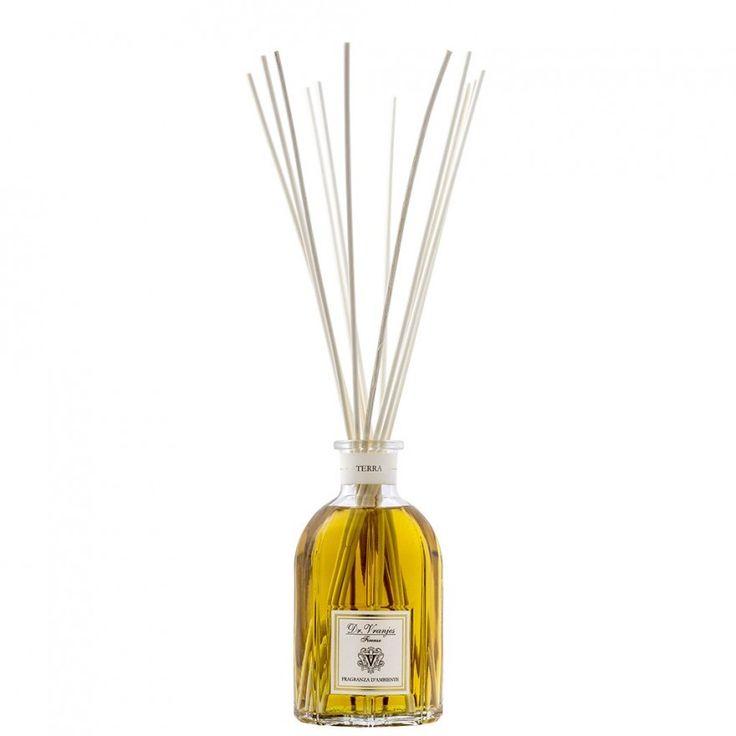 Terra Dr. Vranjes 250 ml Stick Diffuser    Sticks air freshener firm Dr. Vranjes. Content 250 ml. It Includes 8 vegetable sticks. Perfume Head notes: Siberian PineHeart Notes: Musk, Lavender and Vanilla.Background Notes: Wild Mint     https://www.maisonparfum.com/en/scented-bouquets/4240-terra-dr-vranjes-250-ml-stick-diffuser-8033196272236.html    #perfume #homefragrances #parfum