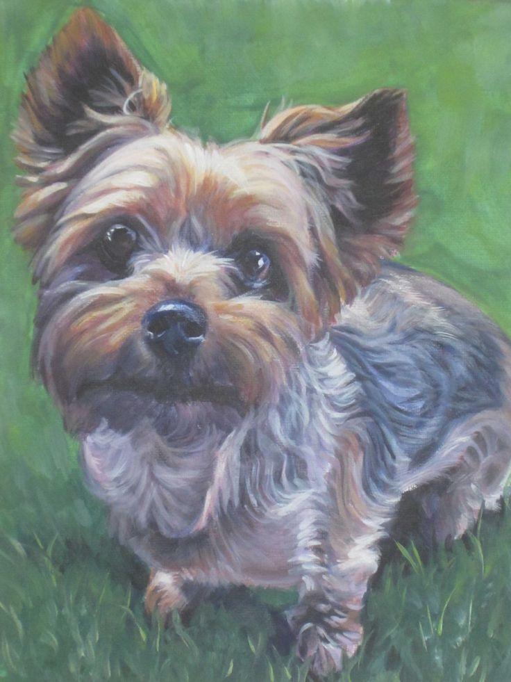 Yorkshire Terrier yorkie hond kunst CANVAS print van LA Shepard schilderij 12 x 16 door TheDogLover op Etsy https://www.etsy.com/nl/listing/120711612/yorkshire-terrier-yorkie-hond-kunst