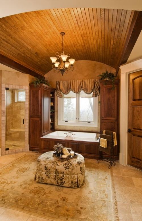 Log Home Master Bath
