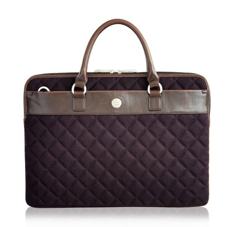 "Avignon from knomo: Official Store | Women's 13"" Laptop Bag | Purple Nylon Slim | Laptop Bags | Laptop Sleeves | Luggage"