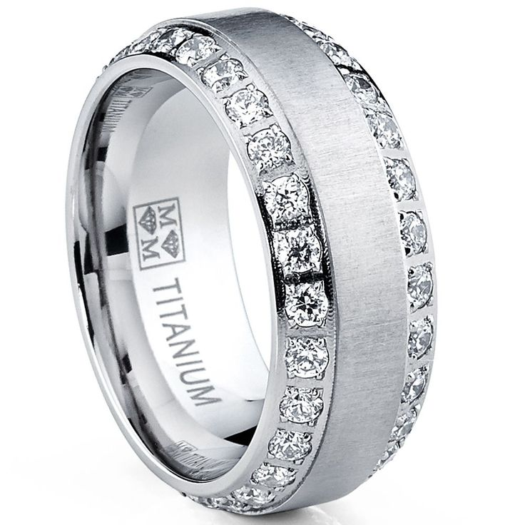 <li>Men's titanium ring</li><li>Titanium jewelry</li><li><a href='http://www.overstock.com/downloads/pdf/2010_RingSizing.pdf'><span class='links'>Click here for ring sizing guide</span></a></li>