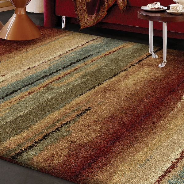 carolina weavers comfy and cozy grand comfort collection field of vision multi shag area rug 3u002711 x 5u00275 by carolina weavers