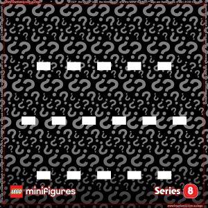 LEGO Minifigures Series 8 Background for Ikea Ribba Frame