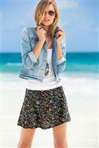 Floral Print Flippy Skirt