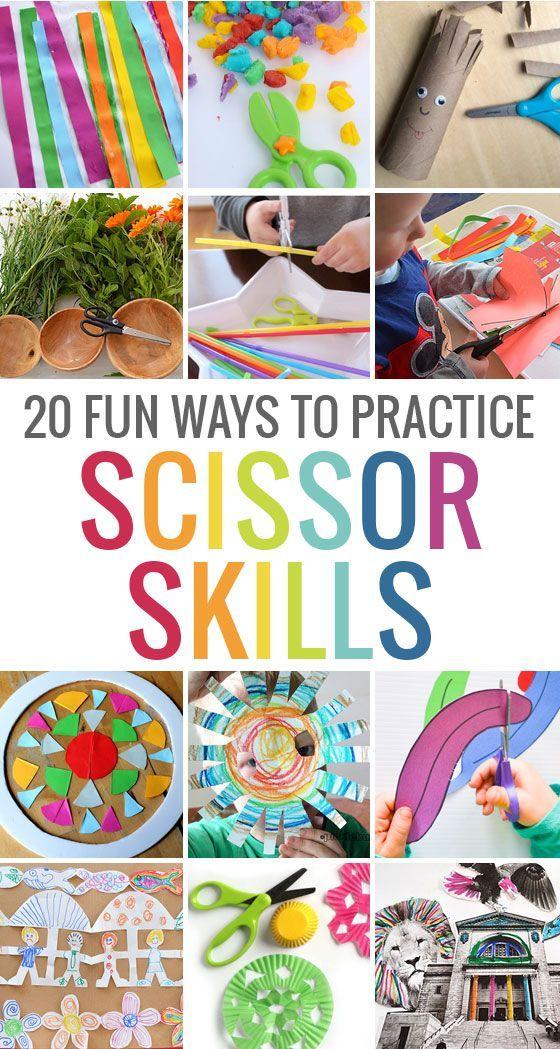 20 fun ways to practice scissor skills!