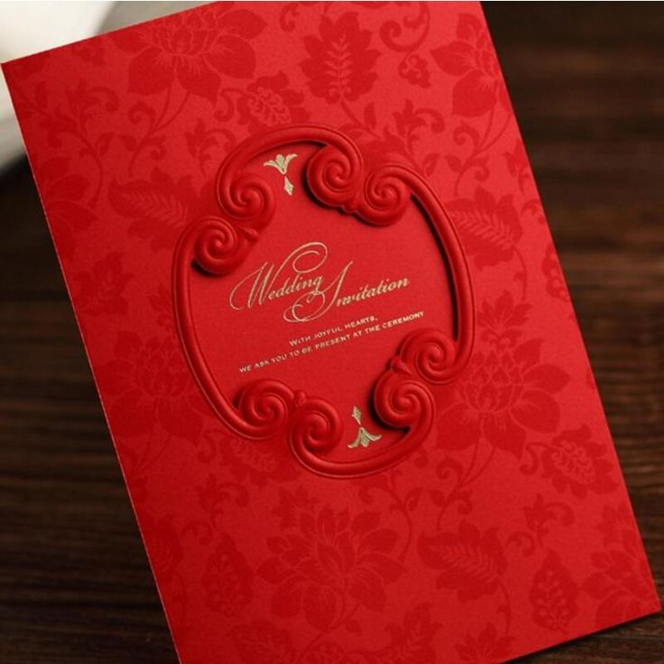 chinese wedding invitation card in malaysia%0A  Free Shipping  Buy Best   pcs pack New Classic Red Hollow