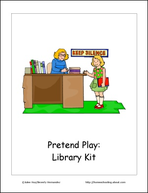 free printables for playing pretend   library, store, restaurant