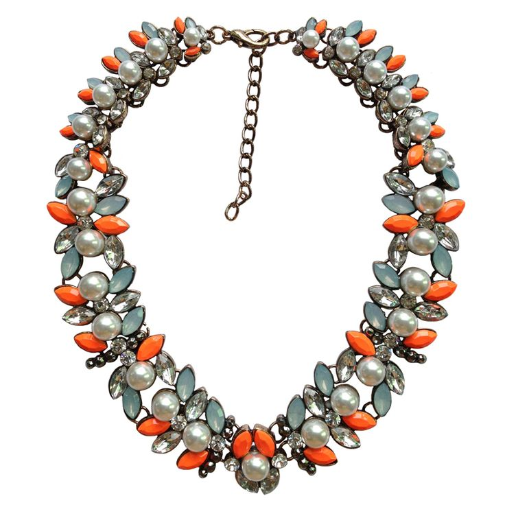 New Arrival fashion Z bib collar necklace & pendant chunky luxury bubble pearl pendant choker Necklace statement  jewelry women $9.98