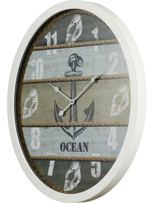 Coastal and nautical wall clocks: http://www.completely-coastal.com/2016/05/coastal-nautical-kitchen-gadgets.html I think these coastal clocks are perfect for the kitchen!