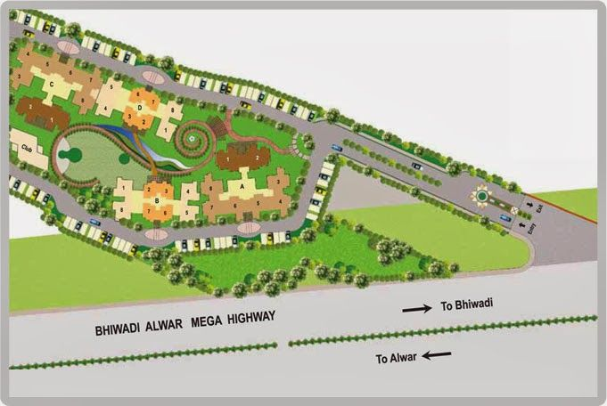 Genesis Projects In Bhiwadi Call 88-00-666-155: genesis skyeon layout plan