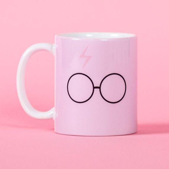 Harry Potter pink scar and glasses mug Funny mug by PooSparkles