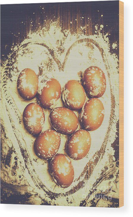 Baking With Love Wood Print featuring the photograph All Heart In Baking Cakes by Jorgo Photography - Wall Art Gallery
