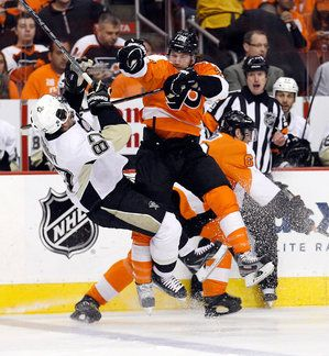 Giroux knocking Crosby out of the playoffs. Kudos!