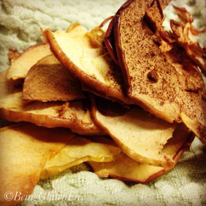 Great #gameday  #glutenfree goodies- Apple Chips