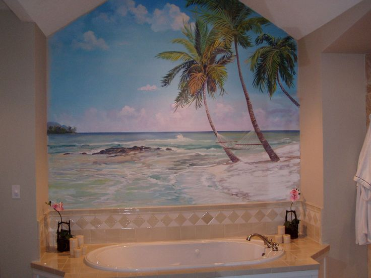 Bathroom Murals Rose S Bathroom Mural Kangas Murals