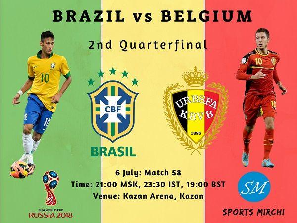Brazil vs Belgium Live Stream, TV Channels 2018 world cup