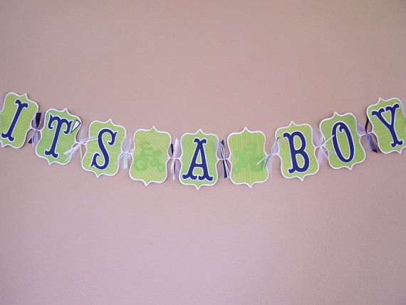 """Custom Personalized """"It's A Boy"""" Banner Tricycle"""