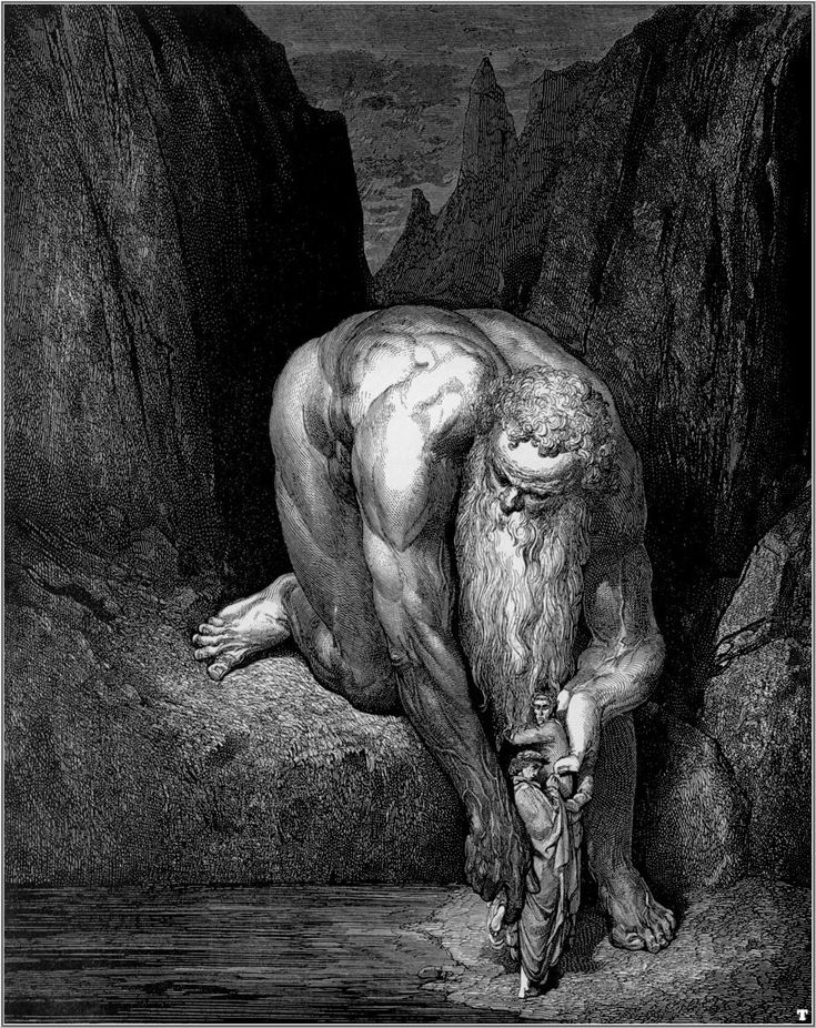 Gustave Doré - La Divina Comedia.  Lines working to create various values, depth and an intriguing figure.