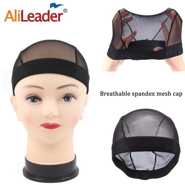 f9cc59c73d2 Alileader Best Mesh Dome Wig Cap Spandex Dome Caps For Making Wigs  Invisible Hair Net Wave Cap With Wig Band Breathable Hairnet Review