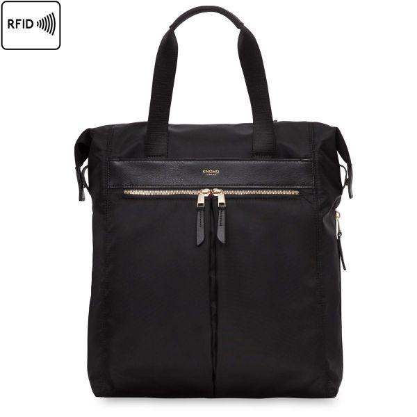 Chiltern Women Tote Backpack - Black | KNOMO