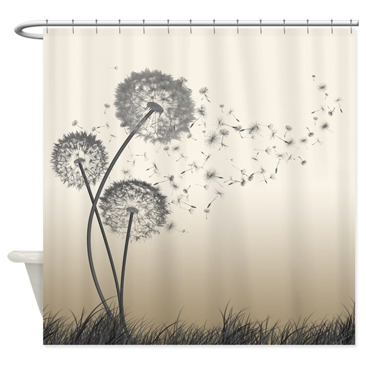 Dandelion Wishes Shower Curtain for