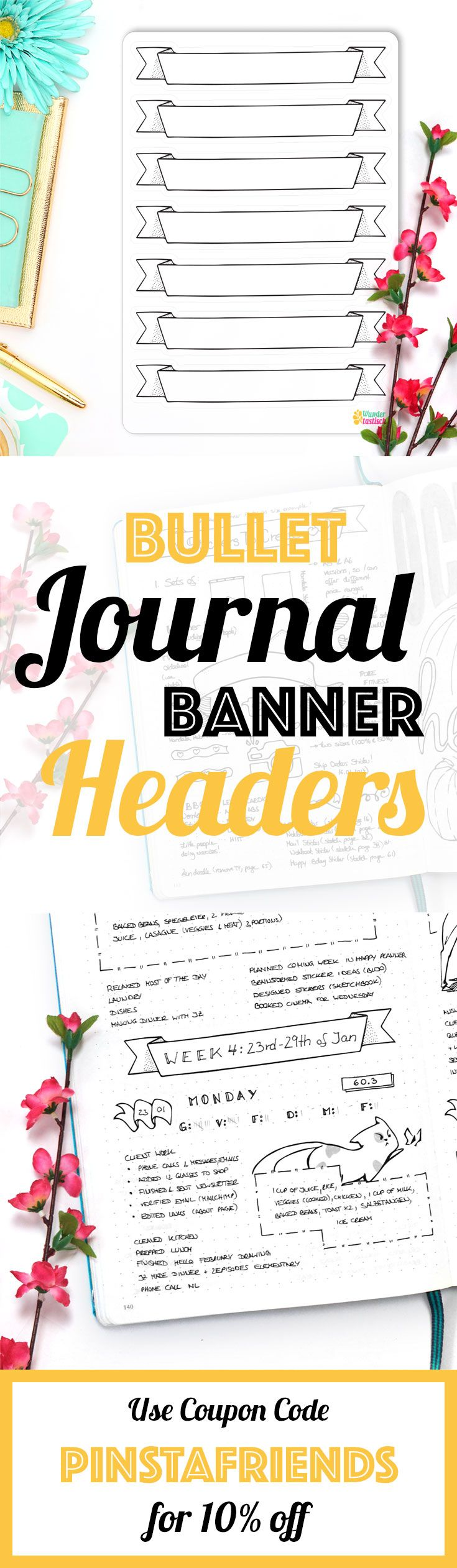 183 best planner inspo images on pinterest bullet journal banners are a great way to spice up your bullet journal or notebook use them biocorpaavc Gallery