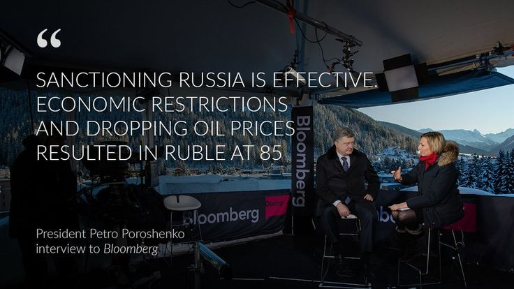 """The Bankova on Twitter: """"In case you missed, check out @Poroshenko interview to @flacqua of Bloomberg in #Davos #wef https://t.co/8igmw1e7cr https://t.co/ybWn8nxO31"""""""