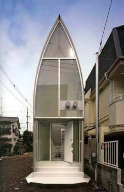 Lucky Drops by Yamashita:  This tiny house in Tokyo celebrates a sliver of a land.