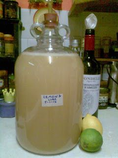 Making Lemon & Lime Wine