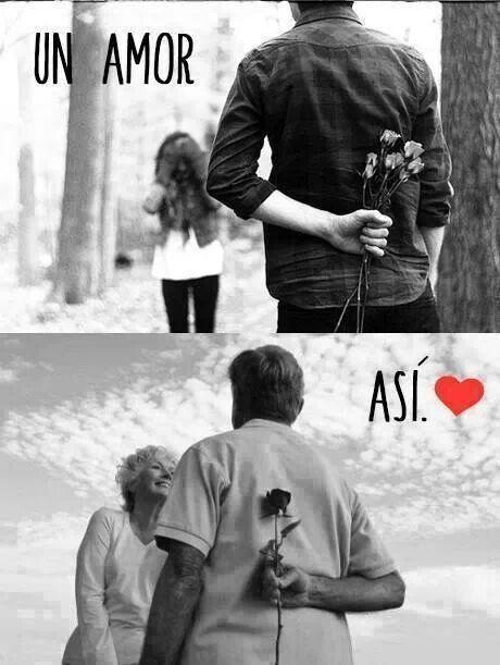 Asi quiero que sea mi vida contigo mi amor, hasta viejitos