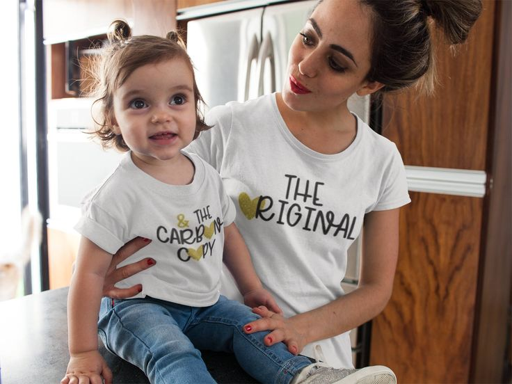 Just in: The Original, The Carbon Copy, Matching, Mommy and Me Shirts, Shirts with words, white shirts for mom and kid, copy past shirt, boy, girl https://www.etsy.com/listing/515360656/the-original-the-carbon-copy-matching?utm_campaign=crowdfire&utm_content=crowdfire&utm_medium=social&utm_source=pinterest