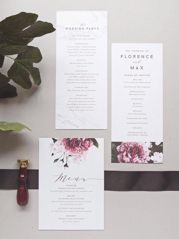 Florence Wedding Invitation & by rachelmarvincreative on Etsy