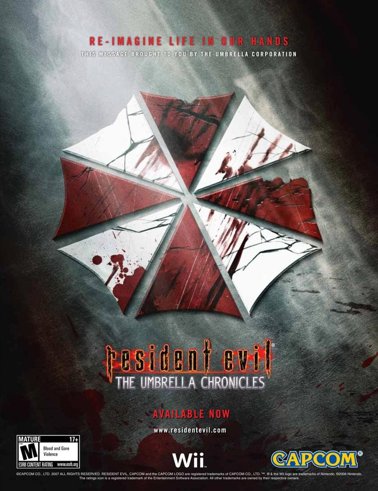 "'Resident Evil: The Umbrella Chronicles'[WII] [USA] [Magazine] [2007] • Hardcore Gamer Magazine, December 2007 • via The Internet Archive • ""Re-imagine Life in our Hands. (No. Seriously. Re-imagine it. We are asking you to voluntarily re-imagine what..."