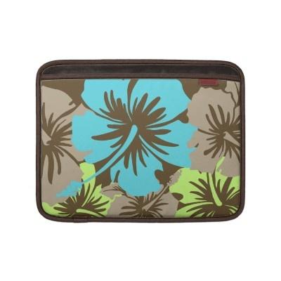 Epic Hibiscus Hawaiian Rickshaw MacBook Case Macbook Sleeves