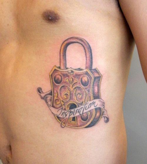 lock tattoos for men google search tattoos pinterest ribs tattoos for men and cage tattoos. Black Bedroom Furniture Sets. Home Design Ideas