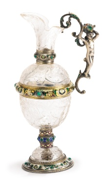 Medieval Glass With Gold And Enamel Paint
