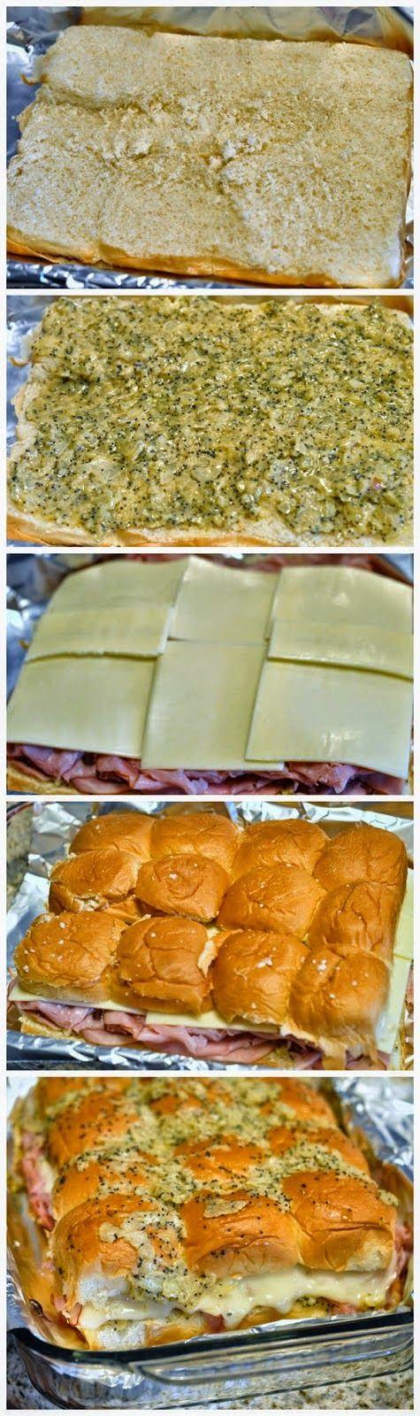 Hawaiian Sweet Roll Ham Sandwiches