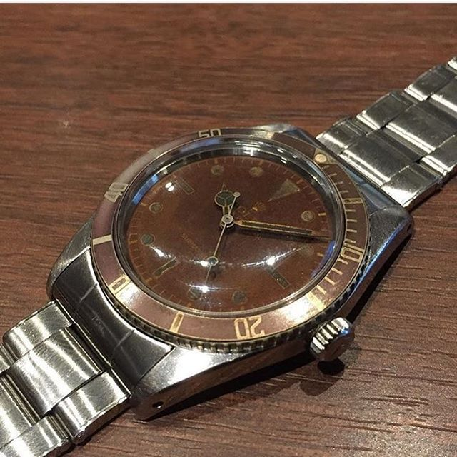 ref.6536/1 submariner very brown tropical dial