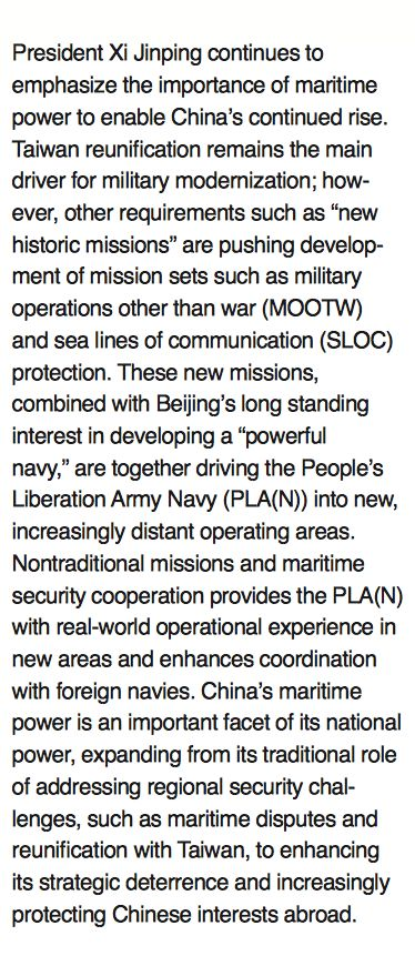 B1 - U.S. Pentagon's Office of Naval Intelligence (ONI), 11 April, 2015: The PLA Navy [China], New Capabilities and Missions for the 21st Century.