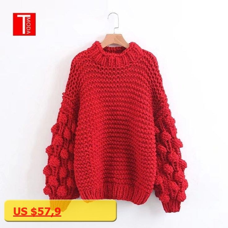 T MODA 2018 Casual Turtleneck Long Knitted Sweaters Women Cotton Loose Pullover Female Autumn Winter Sweater Red Pink Khaki